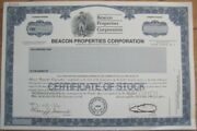 Real Estate Specimen Stock Certificate And039beacon Properties Corporationand039 - Ambn