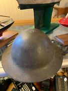 Vintage Wwi British Made Millitary Helmet Hat Collectible