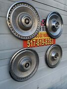 1971-1973 Buick Lesabre 15andrdquo Stainless Wheel Covers Set 4 Very Nice Color Sharp