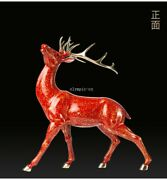 17and039and039 Top Brass Copper Fine Workmanship Home Decor Good Fortune Animal Sika Deer