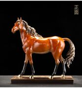 14and039and039 Top Copper Fine Workmanship Blessing Fortune Treasure Horse Statue