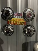 1967-74 Ford Galaxie F100 Truck Hubcaps Set 4 Very Rare Beautiful 15andrdquo Red
