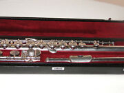 Yamahaandnbspflute Pro Model Yfl-andnbsp581 684 Sterling 925 Silver Open Hole Inline G And B