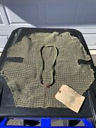 Original Ww2 Us Helmet Net With Camouflage Band And Instruction Tag