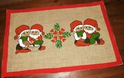Vintage Jute Swedish Christmas Table Decoration / Wall Hanging Design By Hill