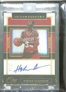 2019/20 Panini One And One First Team Signatures Gold Ft-how Hakeem Olajuwon