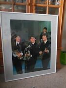 Rare Beatles Original Poster Matted Dry Mounted And Framed 32 X 37  1972