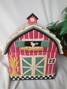 Cookie Jar Barn Country Decor Sunflowers Kitchenware Kitchen And Home Collectibles