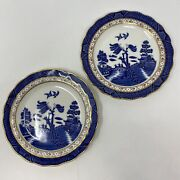 Set/2 Royal Doulton Majestic Collection Real Old Willow By Booths 7.5 Plates