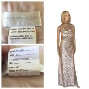 Dessy Collection Sequin Rose Gold Dress Dize 14