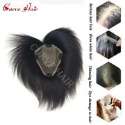 Full Lace Topper Hairpiece Human Hair System Womens Toupees Clip In Top Pieces
