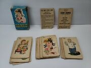 Vintage 1940s-1950s Whitman Old Maid Card Game 3009 Complete Deck Ivx7