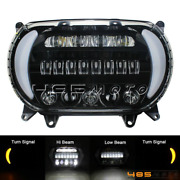 For Harley 15-20 Road Glide Motorcycle Headlight Dual Led Projector Hi/lo