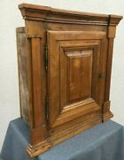 Huge Antique French Louis Philippe Cabinet Furniture 19th Century Woodwork 30lb