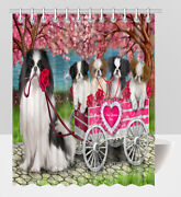 Personalized Pet Lovers I Love Cart Japanese Chin Dogs Shower Curtain