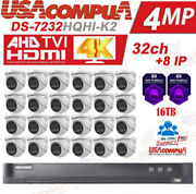 Hikvision 32 Ch Dvr 24 Mini Dome 5mp Security System Kit 4mp 16tb Hard Disk