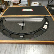 Starrett 224m 500-600mm Outside Micrometer Set With Standards In Case. Lot4