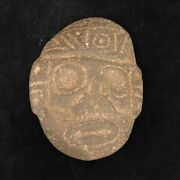 Hand-carved Antiquity Aztec Stone Face From Palm Beach Estate