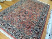 4x6 Sarough Sarouk Oriental Area Rug Wool Red Blue Navy Green Hand-knotted