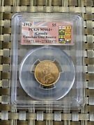 Canada 1913 5 Gold Coin Ms64+ Pcgs Gold Reserve