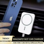 15w Mag Safe Car Mount Magnetic Wireless Charger For Iphone 12 Pro Max 12 Mini