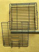 Ronco Showtime Rotisserie Bbq Basket Top And Bottom 9-1/2 X 10 Non-stick