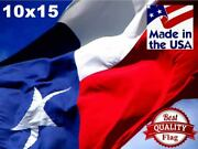 Two-ply Polyester 10and039x15and039 Texas Flag - 2-ply Polyester - Made In The Usa