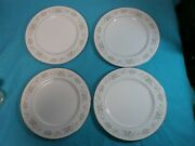 4 Carlion Corsage China 10 12 Dinner Plates 481 Japan Flowers Silver Detail