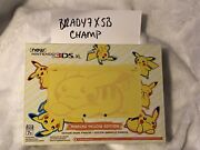 Nintendo New 3ds Xl Pikachu Yellow Limited Edition