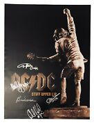 Acdc Ac/dc Signed Autographed Stiff Upper Lip Poster Angus Young Brian Johnson