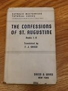 Confessions Of St Augustine Books I-x Trans 1942 Sheed And Ward Hardback Dj Book