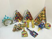 Collection Of Vintage New Years Eve Party Decorations Noise Makers Hats Spinners