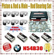 Manley 84.00mm 10.2 Cr Piston And H-beam Rod And Bearing And Gasket Set For Bmw N54b30