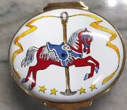 Smithsonian Institution Carousel Horse Trinket Pill Box Edition 60/300 Blue
