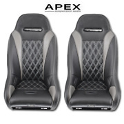 Black/grey Apex 2014+ Rzr Xp/4 1000 Seats Set Of 2 By Aces Racing
