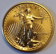1991 10 1/4 Oz American Gold Eagle Coin In Bu/unc Condition Key Date 2
