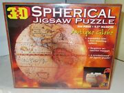 3d Spherical Jigsaw Puzzle Antique Globe New Factory-sealed Buffalo Games Usa