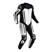 Rst Pro Series Airbag Ce Mens Leathers One Piece Race Riding Suit White Black
