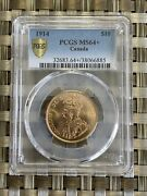 Canada 1914 10 Gold Coin Ms64+ Pcgs Gold Reserve