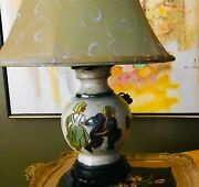 Mid Century Art Deco Pottery Jug Lamp By Roger Guerin