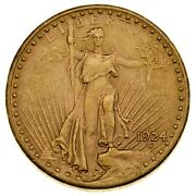 1924 20 St. Gaudens Us Gold Double Eagle In Choice Bu Condition