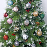 24pcs 6cm Christmas Xmas Tree Balls Baubles Hanging Ornaments Home Party Decor