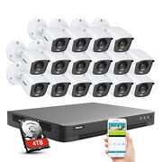 Annke Full Color Camera 4k Video 8mp Security System 16ch Dvr Ip67 Night Vision