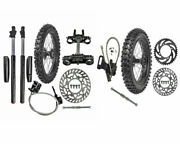 17 Front Tire + Front Fork Triple Clamp 70/100-17 90/100-14 Wheel + Disc Brake