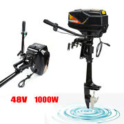 1000w Electric Outboard Motor Fishing Boat Engine15km/h Shaft 508mm Us Stock