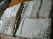 Vtg Tablecloth Banquet Linen Hand Reticella Lace Andembr/ry12 Napkins 8 Placemats