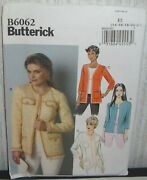 Womens/misses Easy Jackets Blazers Sewing Pattern/butterick B6062/sz 14-22/ucn