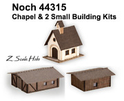 Noch Z Scale 44315 Small Buildings Set Chapel And 2 Cabins W/glue New 0 Ship