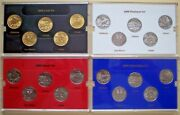 Compete Set Of State Quarters 1999-2008 Incl 24k Gold And Platinum Plated Sets