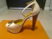 Charlotte Olympia 36.5 Sexy Pump With Wooden Rare Heel, Limited Edition